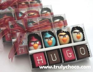 Souvenir coklat bentuk angry bird untuk acara ultah anak, bisa