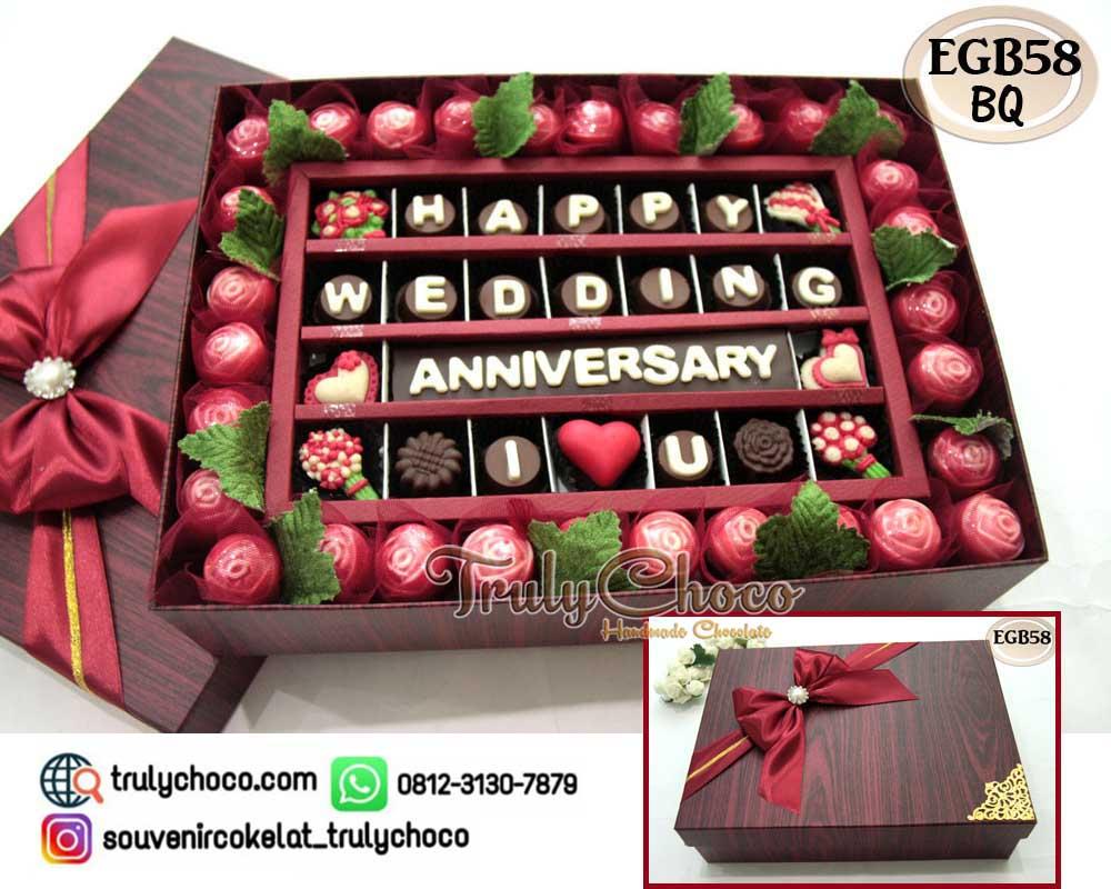 Hadiah Ulang Tahun Pernikahan Trulychoco Handmade Chocolate